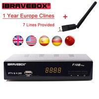 IBRAVEBOX F10S PLUS 1 Year Europe C Line Server HD Support H 265 DVB S S2