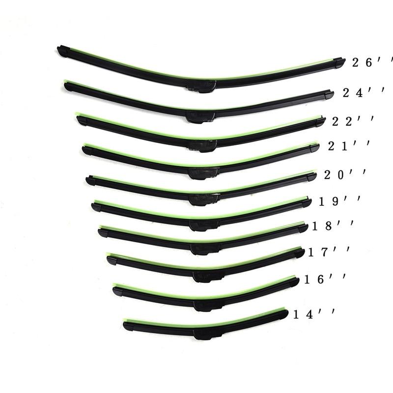Universal Car wiper blade U type Soft Frameless Bracketless Rubber Car clean windshield wipers 14 16