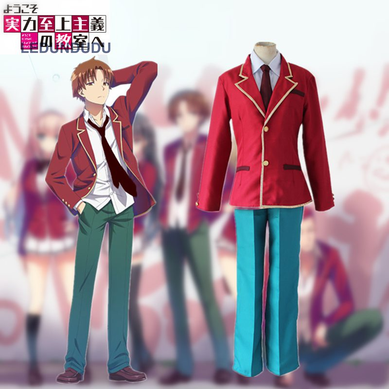 New Anime Youkoso Jitsuryoku Shijou Shugi no Kyoushitsu e Cosplay Ayanokouji Kiyot School Uniform Halloween Party Men Costumes