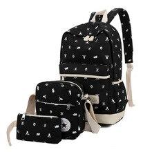 Комплект из 3 предметов с принтом Школьные сумки для подростков Обувь для девочек модные женские туфли рюкзак милый студент Дорожные сумки Mochila XM08