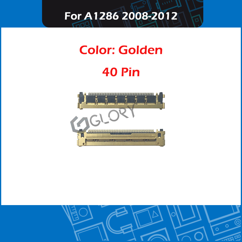 New Laptop A1286 LCD LED LVDs Cable Connector 40 PIN Golden For Macbook Pro 15'' A1286 17