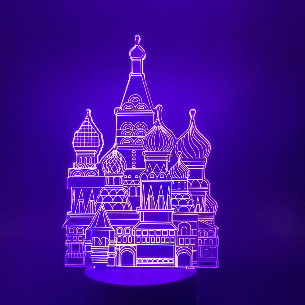 3d Illusion Led Night Light Cartoon Beautiful Cinderella Castle Color Changing For Baby Girl Bedroom Decor Nightlight Table Lamp