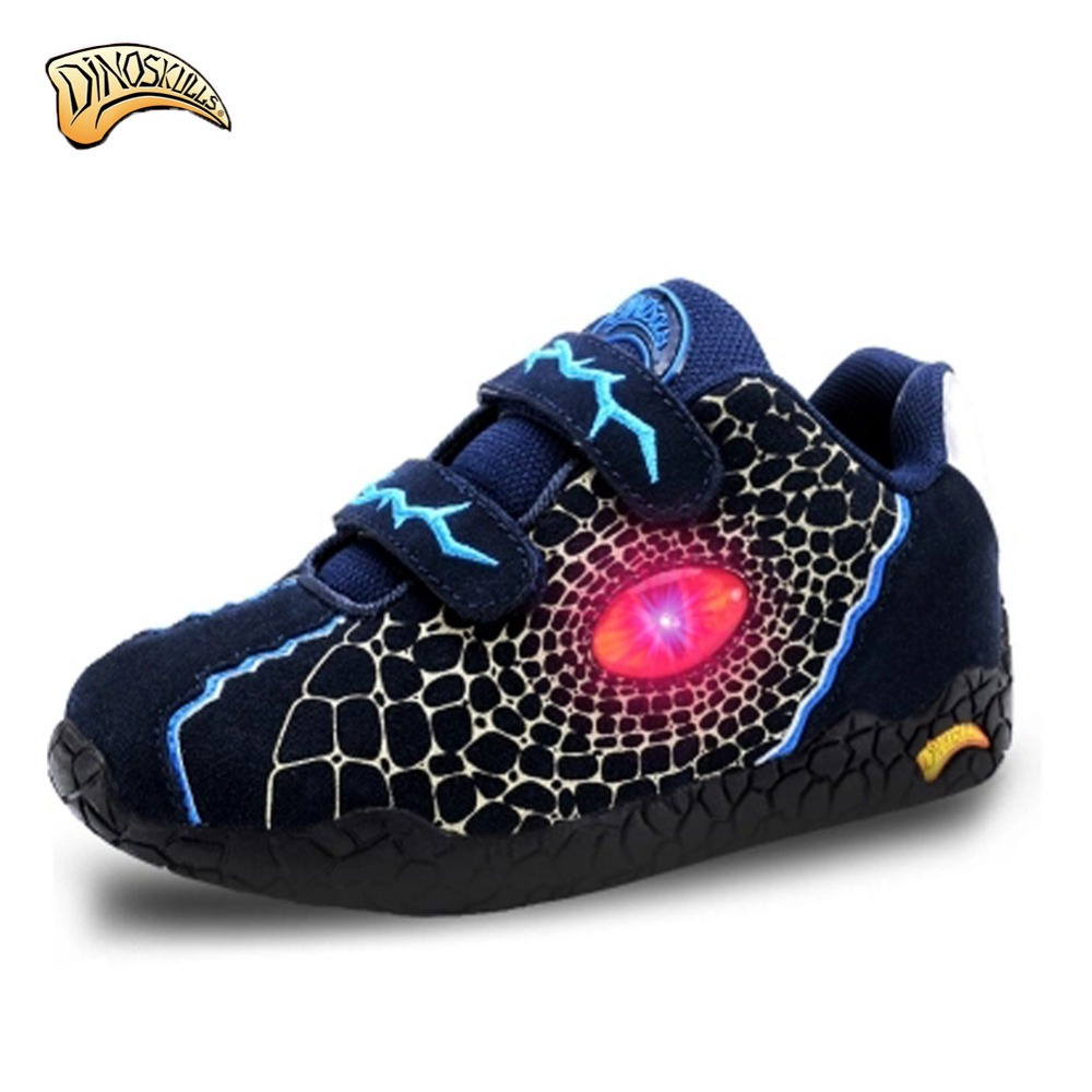 Dinoskulls Boys Sneakers Spring genuine Leather Light Up Kids Shoes Leisure Breathable Children Sport Running Shoestenis infant Dinoskulls Boys Sneakers Spring genuine Leather Light Up Kids Shoes Leisure Breathable Children Sport Running Shoestenis infant