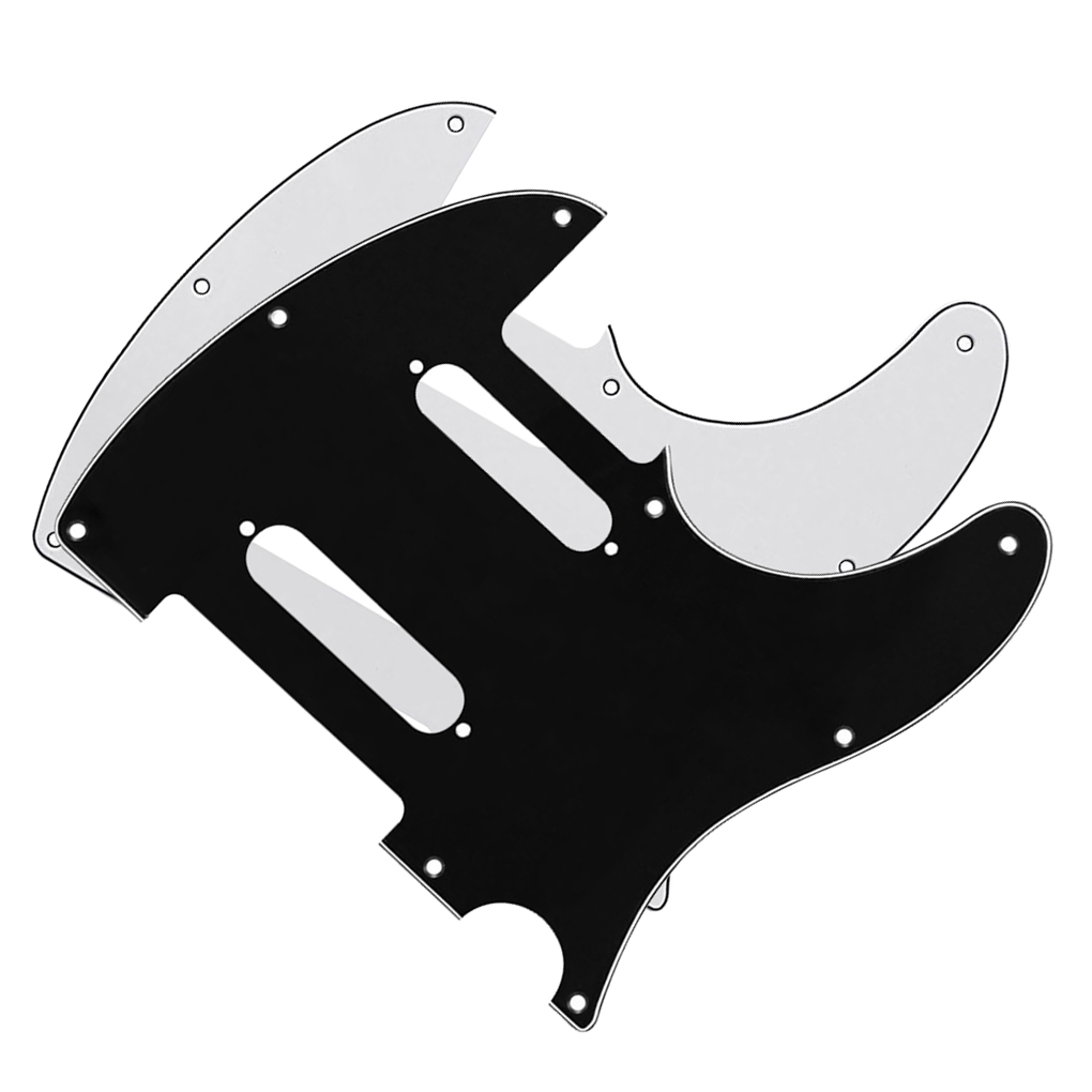 2pcs 8 holes nashville tele style guitar pickguards scratch plate black white 3ply with screws. Black Bedroom Furniture Sets. Home Design Ideas