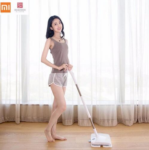 3 an de garantie! Xiaomi SWDK Sans Fil De Poche Électrique Vadrouille Essuie-glace Étage Rondelles Avec La Lumière et Vadrouilles DC 12 v