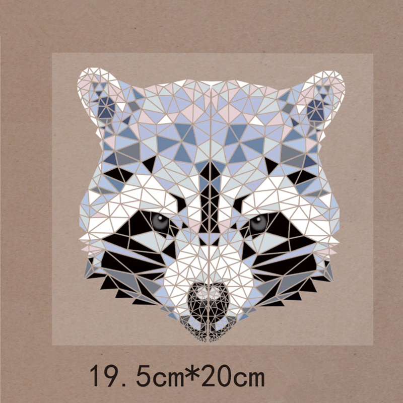 DoreenBeads 19.5x20cm Animal Fox Patch T-shirt Press Sticker Washable Iron On Transfer Patches For Boy Man T Shirt Coat Backpack