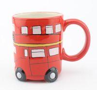 Britannico bus a due piani di ceramica tazze di acqua tazze di latte londra souvenir di viaggio tazze home office articoli e attrezzature per acqua, caffè, tè regalo creativo