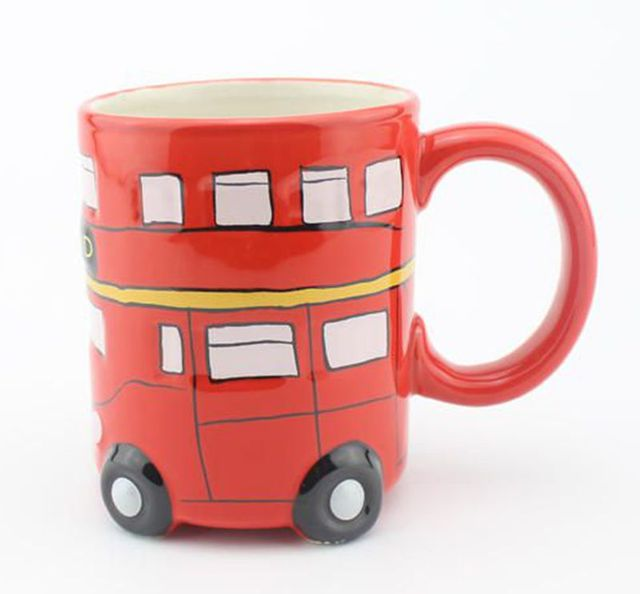 entire office decked. British Double - Decked Bus Ceramic Water Cups Milk London Travel Souvenirs Mugs Home Office Entire R