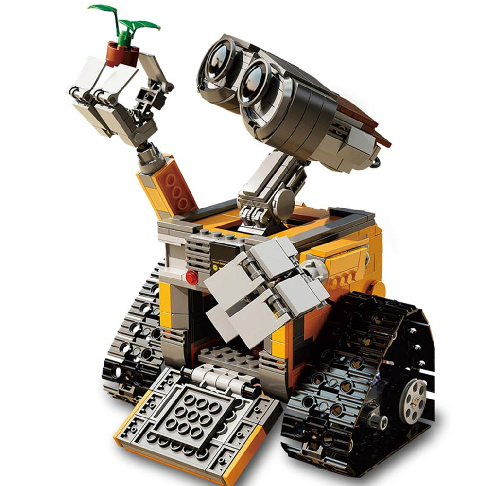 2017 Lepin 16003 ABS Plastic Idea Robot WALL E Building Set Kits Educational 3D Model Toys Gift  for Children wall e robot model building kits assemble toy idea robot girls boys toy birthday gift compatiable with lego kid gift set