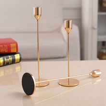 Chinese Style Metal Candle Holders Simple Golden Wedding Decoration Bar Party Living Room Decor  Home Decor Candlestick