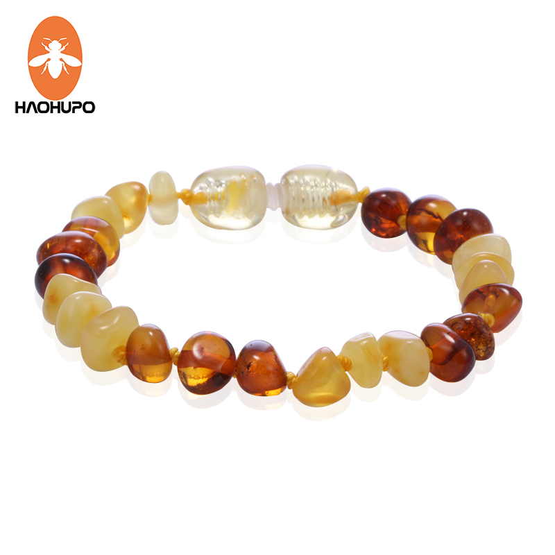 HAOHUPO Amber Bracelets for Baby Women Gifts Top Quality Handmade DIY Amber Jewelry for Etsy Natural Baltic Anklet 50 Designs