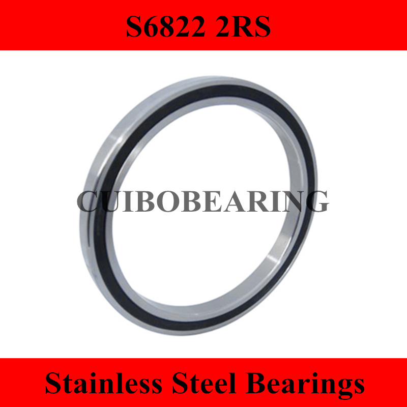 купить 1PCS S6822 2RS Stainless Steel Shielded Miniature Ball Bearings S61822 size:110*140*16mm недорого