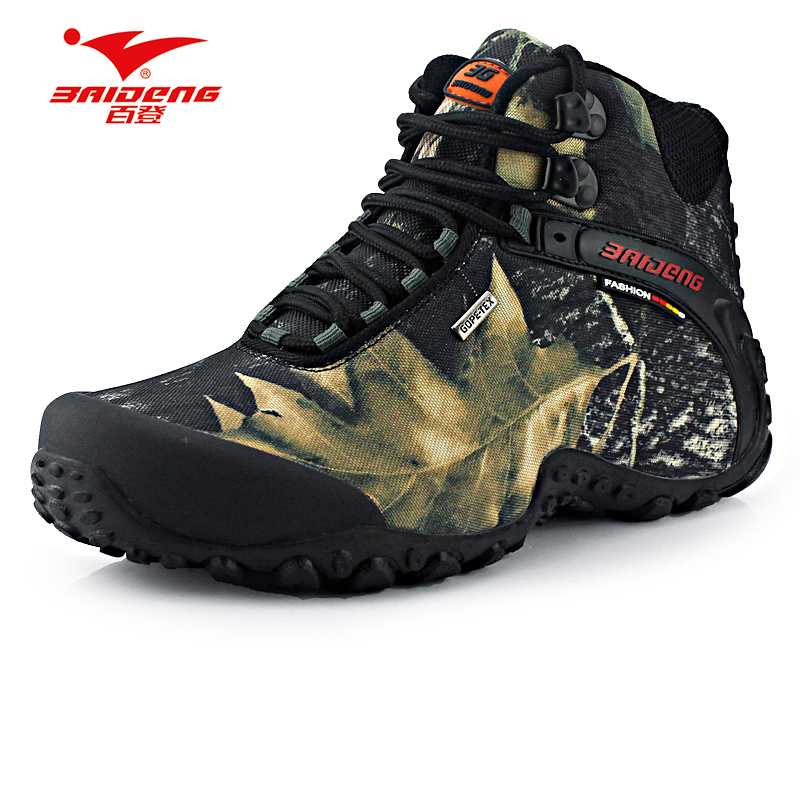 New waterproof canvas hiking shoes boots anti skid wear for Waterproof fishing boots