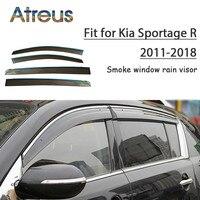 Atreus 1set ABS For 2018 2017 2016 2015 2011 Kia Sportage R Accessories Car Vent Sun Deflectors Guard Smoke Window Rain Visor