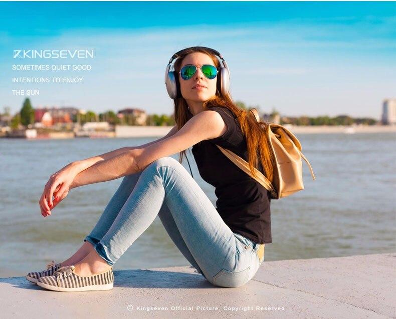 58mm Retro Sunglasses Women Kingseven Luxury Brand Female Sun glasses For Women 16 Fashion Oculos Designer Shades Unisex 3025 2