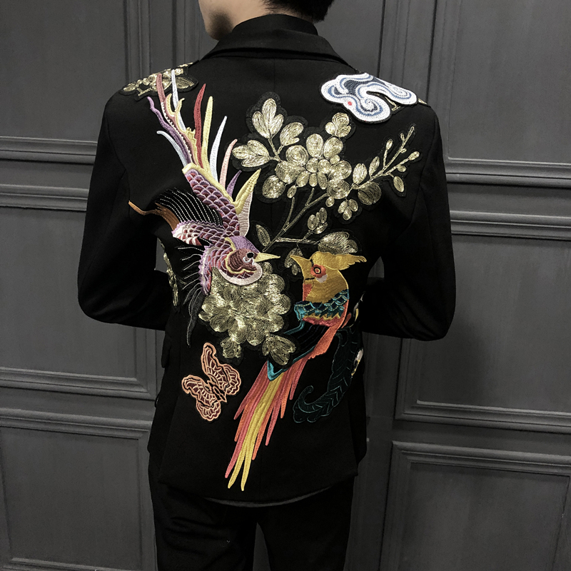 Blazers Masculino High Quality Blazers Single Western Embroidered Suit Designer Man Man's Suit Self-cultivation Trend Embroidery