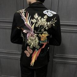 Blazers Masculino Hoge Kwaliteit Blazers Enkele Westerse Geborduurde Pak Designer Man Man Pak zelfontplooiing Trend Borduurwerk