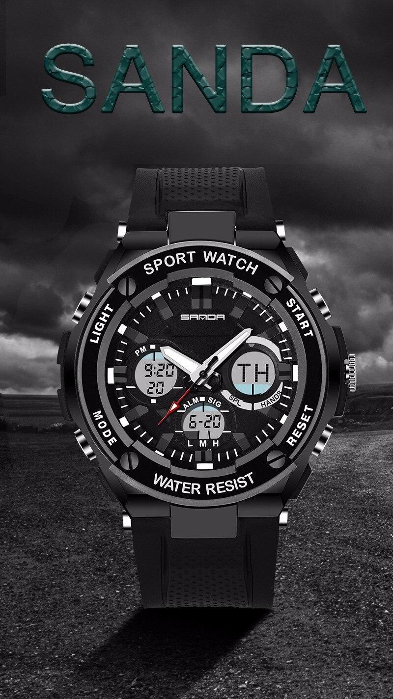 Men Sport Watch Waterproof Top Brand Luxury Military Watch LED Digital Quartz Wristwatch Relogio Masculino Reloj Hombre 2019 733 9