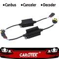 CARLitek 2PCS H4 H7 LED Scheinwerfer Canbus Verdrahtung Kit Computer Warnung Fehler Kostenloser Anti Flimmern Widerstand Unterdrückung Decoder