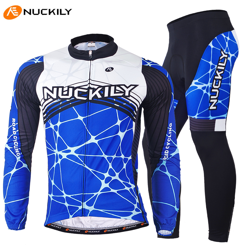 NUCKILY Men Cycling Mountain Bike Riding Long Sleeve Jersey + Pants Men Roupa Ciclismo Masculino Sport Suit Cycle Clothing Sets купить