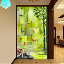 5D DIY diamond painting crystal landscape embroidery patterns mosaic full Square Rhinestone larger size bamboo Goldfish Pictures