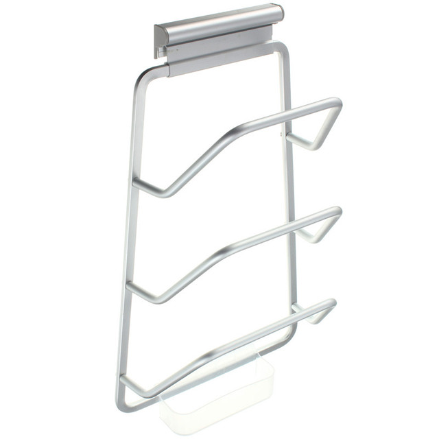 Hot Sale 1pc Kitchen Space Saver Cabinet Door Pot And Pan Lid Holder
