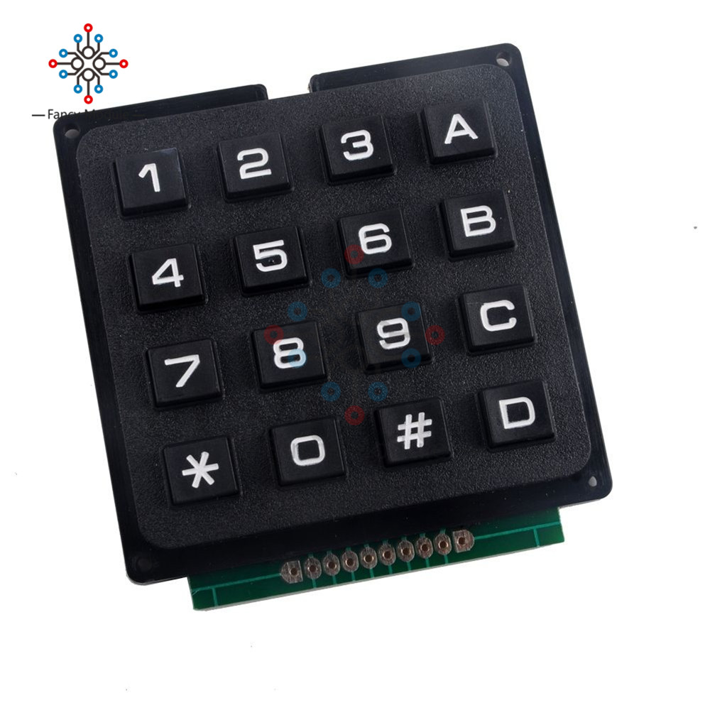 Humble 4x4key Matrix Membrane Switch Keypad Keyboard Control Panel Mcu Accessory Board Super Slim Controller 16 Key Buttons For Arduino Instrument Parts & Accessories Measurement & Analysis Instruments
