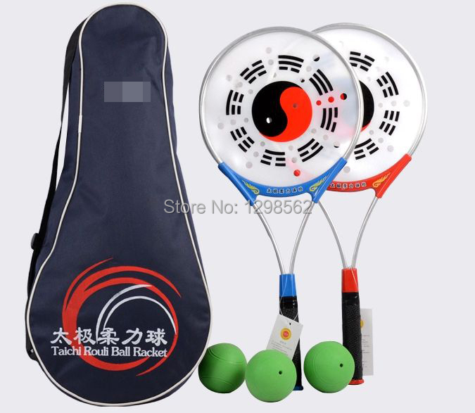 Taichi мягкая мощная ракетка для мяча Tai chi Taiji softball kung fu ракетка + мяч + сумка 3 шт./компл.