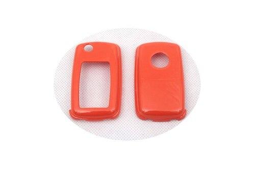 Жесткий Пластик без ключа дистанционного защиты Чехол(глянец оранжевый) для Фольксваген MK4/MK5