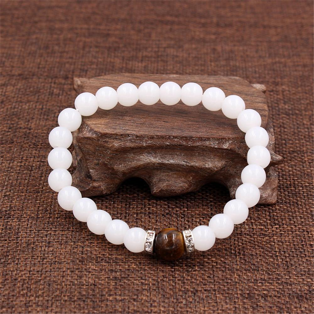 Temperament Natural White Microenchased Zircon Septum Piece Hand String Elastic Force Bracelet Bracelet Woman