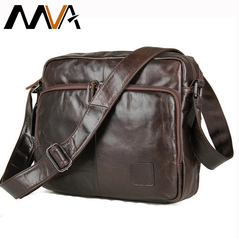 MVA Genuine Leather bag Men Messenger Bags Casual Multifunction shoulder Crossbody Bags Handbags iPad Holder men leather bag neweekend genuine leather bag men bags shoulder crossbody bags messenger small flap casual handbags male leather bag new 5867