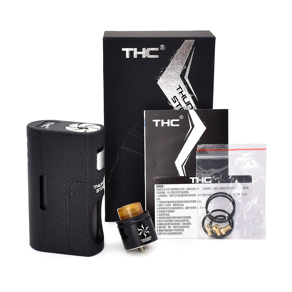 Electronic cigarette BF kit THC Thunder Storm BF Kit 8ML capacity BF mod with dual coil RDA Support 21700/20700/18650 Battery honda bf 75