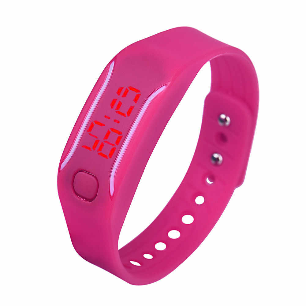 Pria Wanita Olahraga Jam Tangan Multicolor LED Gelang Digital Jam Tangan Wanita Relojes untuk Mujer Reloj Mujer Digital Reloj Hombre