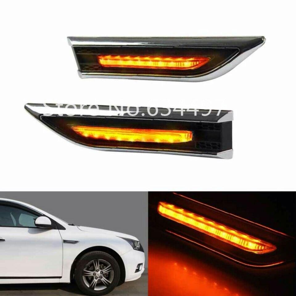 Black KATURN 2PCS LED Car Fender Sidelight Indicator Side Turn Lights