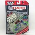 "Flick Trix Bmx Mini Finger Bike ""BULE GREEN "" Alloy model bikes with wheels trick bars display stand bonus stickers and tools"