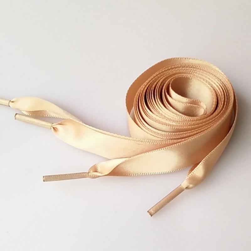 2018 80cm Flat Satin Ribbon Multicolor Shoelaces Shoe Laces Sneaker Sport Shoes 2CM Wide 16 colors brown satin ribbon shoelace 2cm width