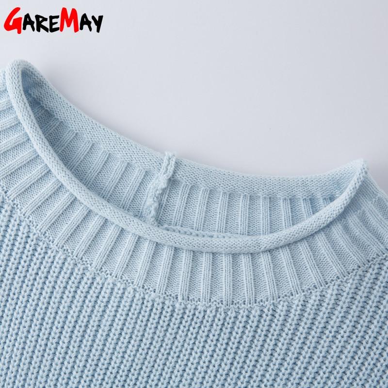Gaun Sweater panjang, Wanita Pullover longgar rajutan lengan panjang - Pakaian Wanita - Foto 5
