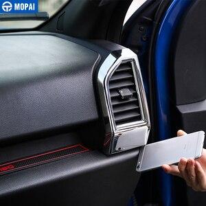 Image 4 - Mopai abs interior do carro painel de ar condicionado ventilação tomada decoração capa quadro adesivos para ford f150 2015 + estilo do carro