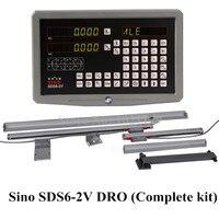 밀링 선반 dro 디지털 판독 키트 sino SDS6-2V 2 축 디지털 디스플레이 및 KA-300 디지털 광학 선형 유리 스케일 눈금자
