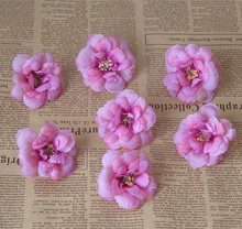 10PCS/ decorating flowers The camellia flower heads, DIY hat slippers with Flower Brooch artificial flowers
