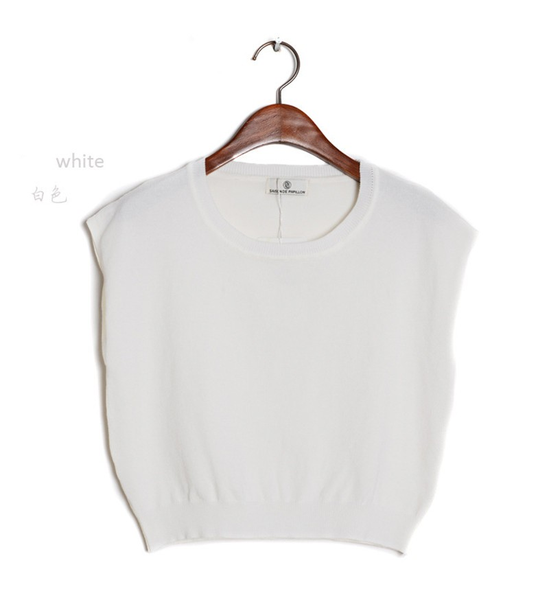 Summer 2016 Solid knitted short Pullover Sweater (18)
