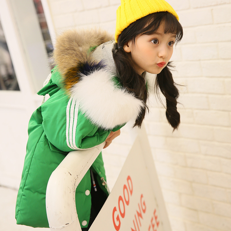 Girl 2017 new Korean thickened hooded down jacket winter for size 6 7 8 9 10 11 12 13 14 years child tide casual coat outerwear children cowboy jacket coat hooded 2017 winter new tide thick cashmere long outerwear size 4 5 6 7 8 9 10 11 12 13 years girl