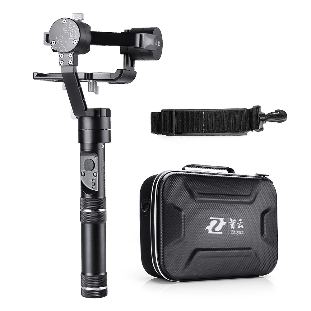 Zhiyun Crane-M 3-axis Brushless Handle Gimbal Stabilizer for Smartphone Mirroless DSLR for Gopro Weights Between 125g and 650g zhiyun z1 rider m 3 axis wearable camera gimbal stabilizer app wireless remote control for gopro 3 4