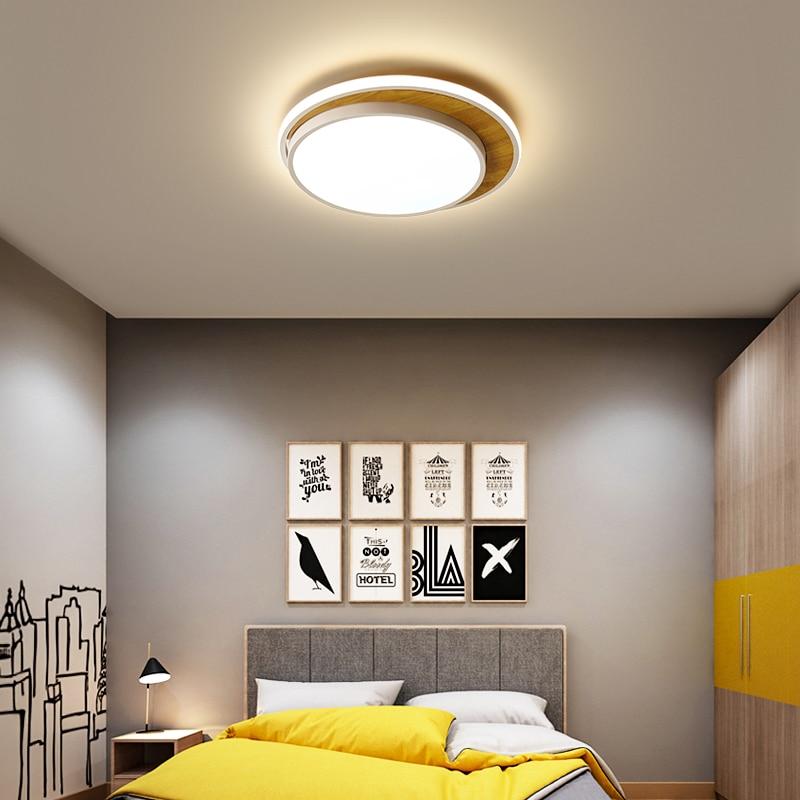 Nordic round Led chandeliers ceiling For Livingroom Bedroom lustre led Metal+wood Modern Chandelier Lighting lampara techo