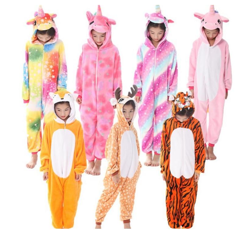 Pajamas Unicorn Kids Animal Children Pajamas For Boys Girls Baby Pyjamas Stich Onesies Winter Sleepwear