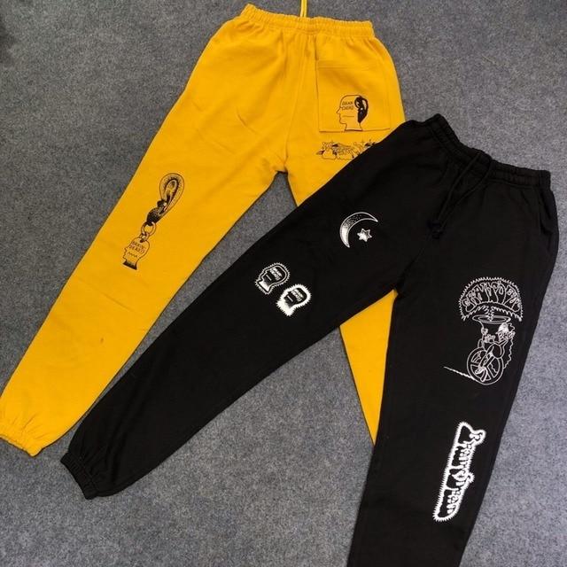 US $37 99 |2019 Best Quality Kanye West Brain Dead Printed Women Men  Sweatpants Jogger Pants Hiphop Streetwear Men Pants Joggers Trousers-in