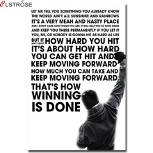 CLSTROSE Limited Prints Rocky Balboa Motivational Art Poster Inspirational Wall Picture Decorative Painting For Living Room
