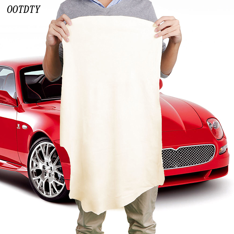 OOTDTY 40 70CM Natural Shammy Chamois Leather Car Cleaning Towels Drying Washing Cloth New Arrival