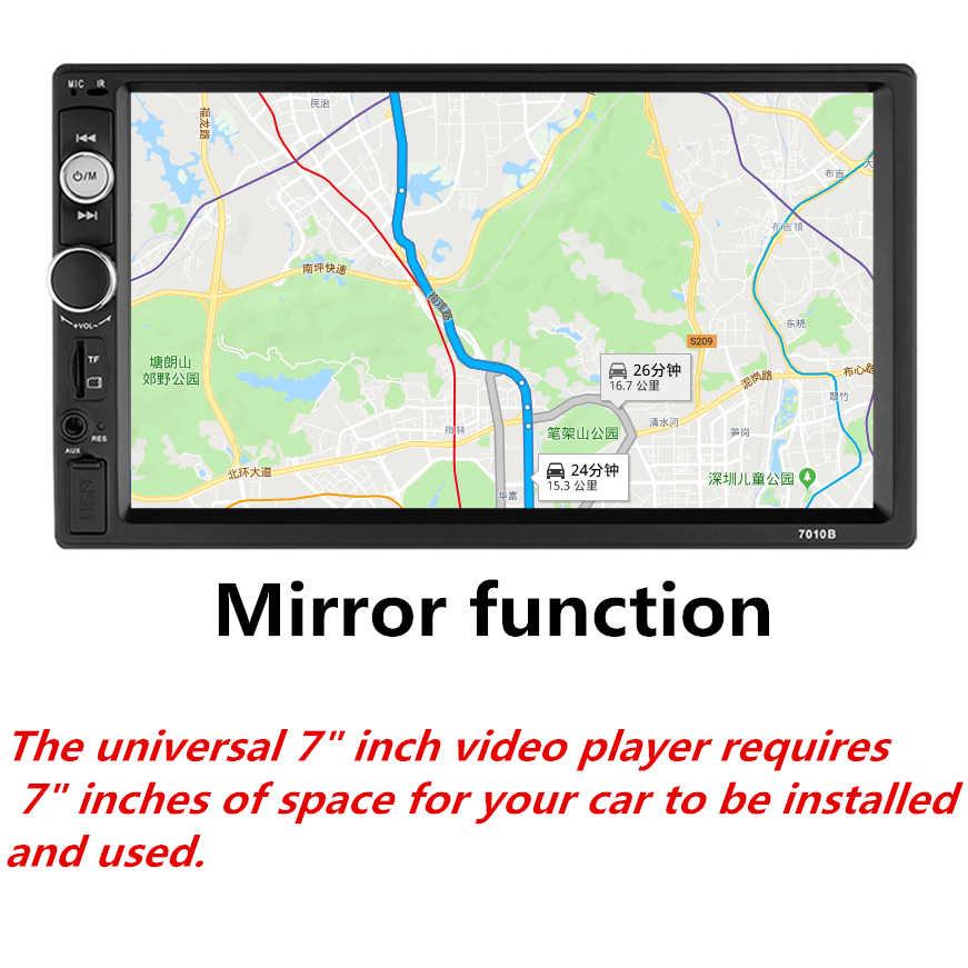 2 Din カーラジオ車ユニバーサルマルチメディアプレーヤー Autoradio ステレオタッチスクリーンビデオ MP5 プレーヤーオートラジオバックアップカメラミラー