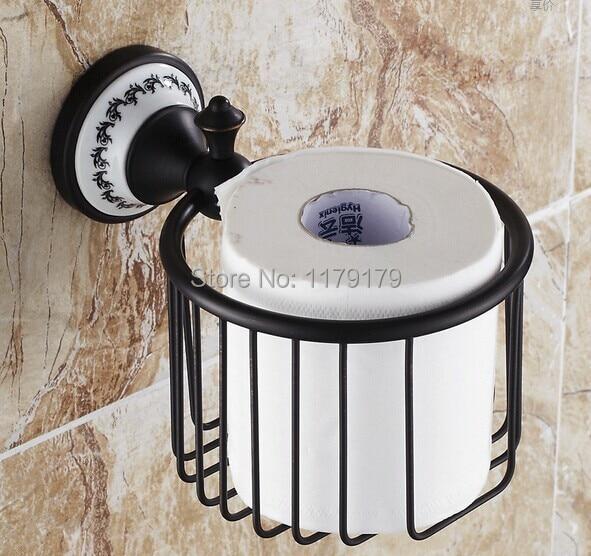 ФОТО free shipping Europen  Classic style black bronze paper Roll Holder bathroom accessoriesTC5413